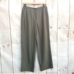 Eileen Fisher Green/Grey Wool Challis Pants Size S